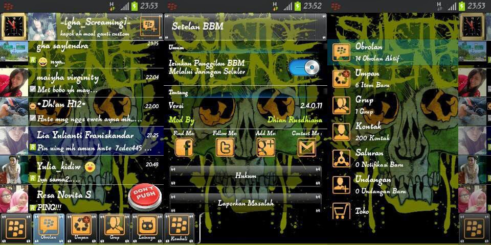 BBM Modifikasi Serba Transparant | Wood and Skull!