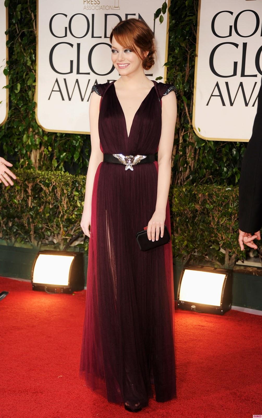 Fashion Blog: 2012 Golden Globes Award  Emma Stone Golden Globes