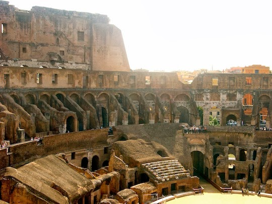 View on the interior of the Colosseum