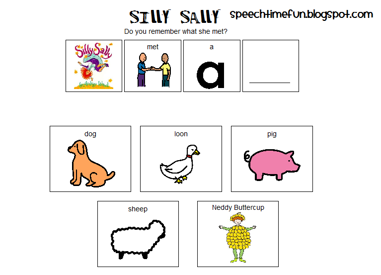 silly sally articulation and sequencing activities. Black Bedroom Furniture Sets. Home Design Ideas