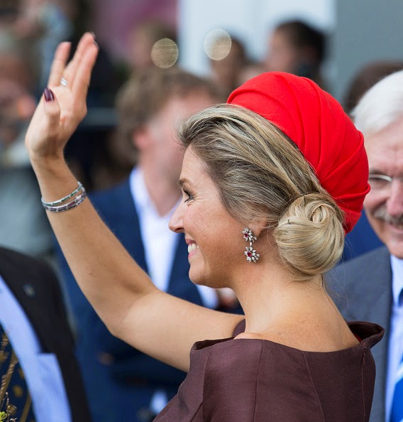 Queen Maxima of The Netherlands attends the opening of the new Markthal on 01.10.2014 in Rotterdam, Netherlands