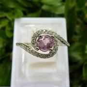 Cincin Batu Permata Pink Sapphire Ceylon - SP599