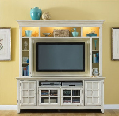 Diy design fanatic one year blog anniversary a giveaway - Tv stands small spaces ideas ...