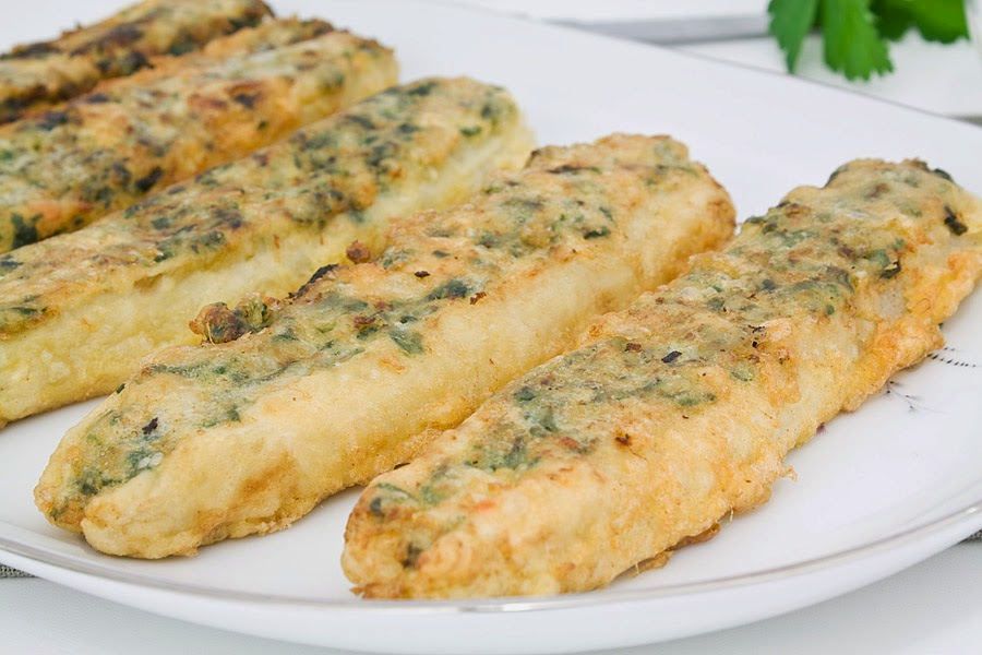 E cocinablog esp rragos rellenos de espinacas y gambas for Cocinar esparragos