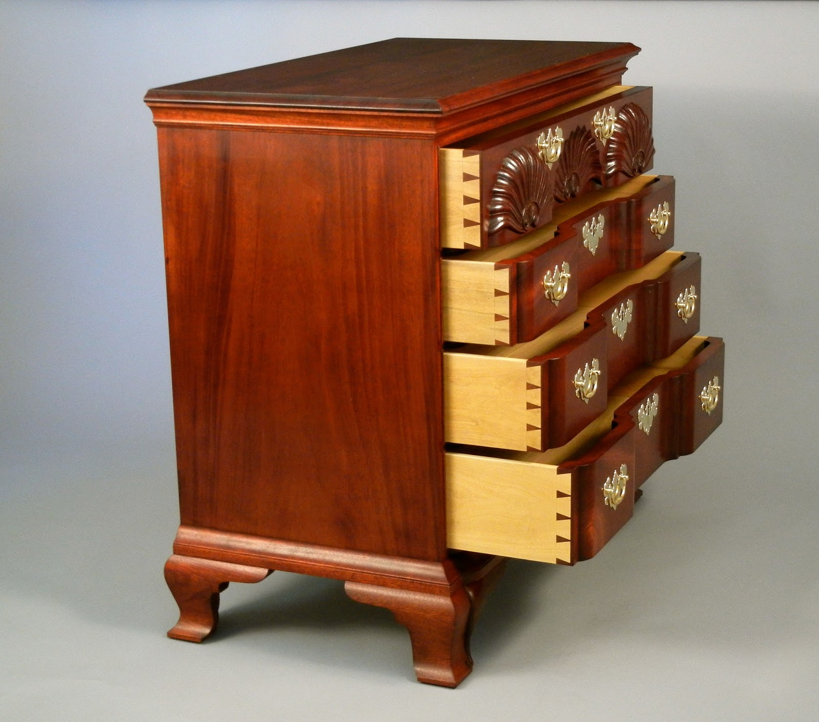 Doucette And Wolfe Furniture Makers Chippendale Chest Of Drawers