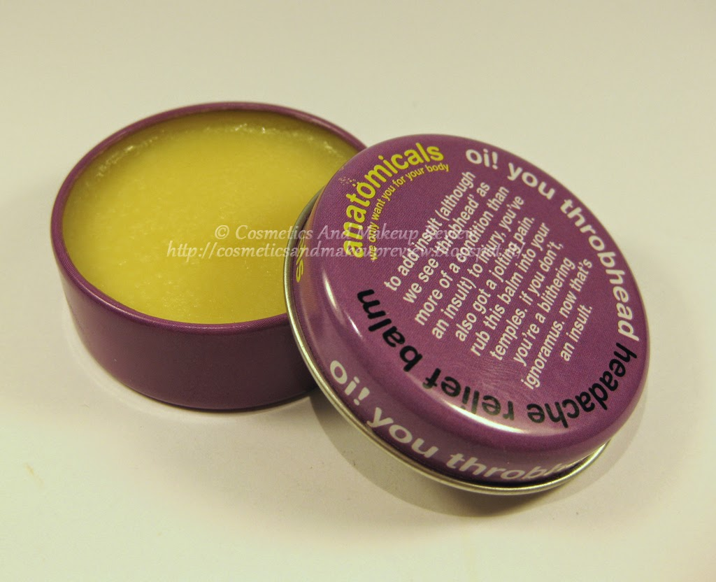 Anatomicals - Oi! You Throbhead - Headache Relief Balm