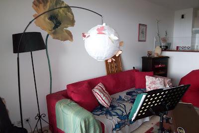 zetwal katrer un abat jour boule en papier de riz customis. Black Bedroom Furniture Sets. Home Design Ideas