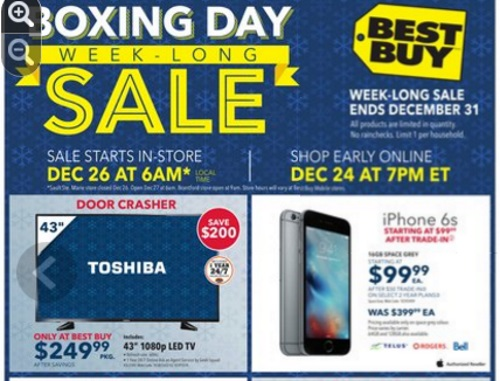 Best Buy Boxing Day Week-Long Sale