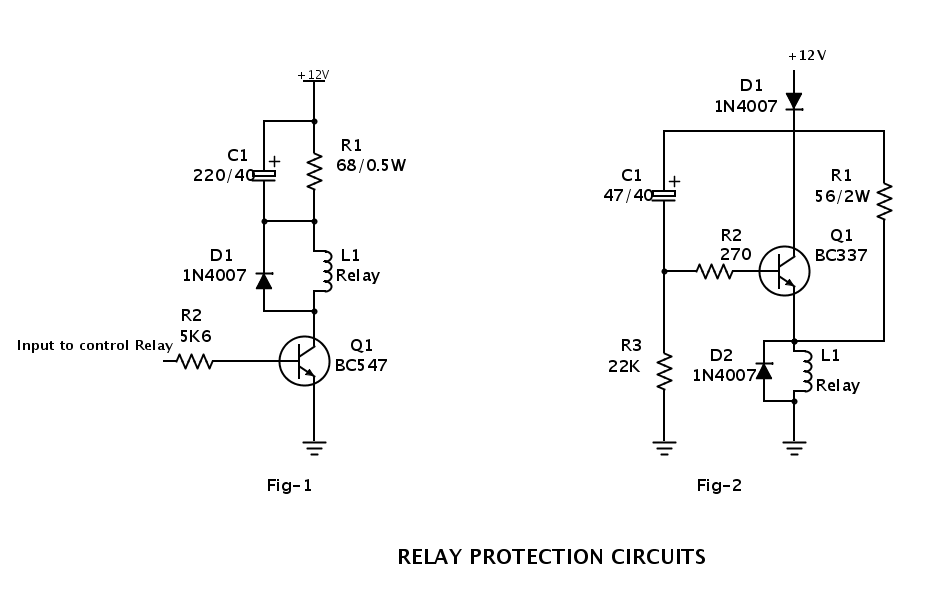 ELECTRONIC CIRCUITS: RELAY PROTECTION