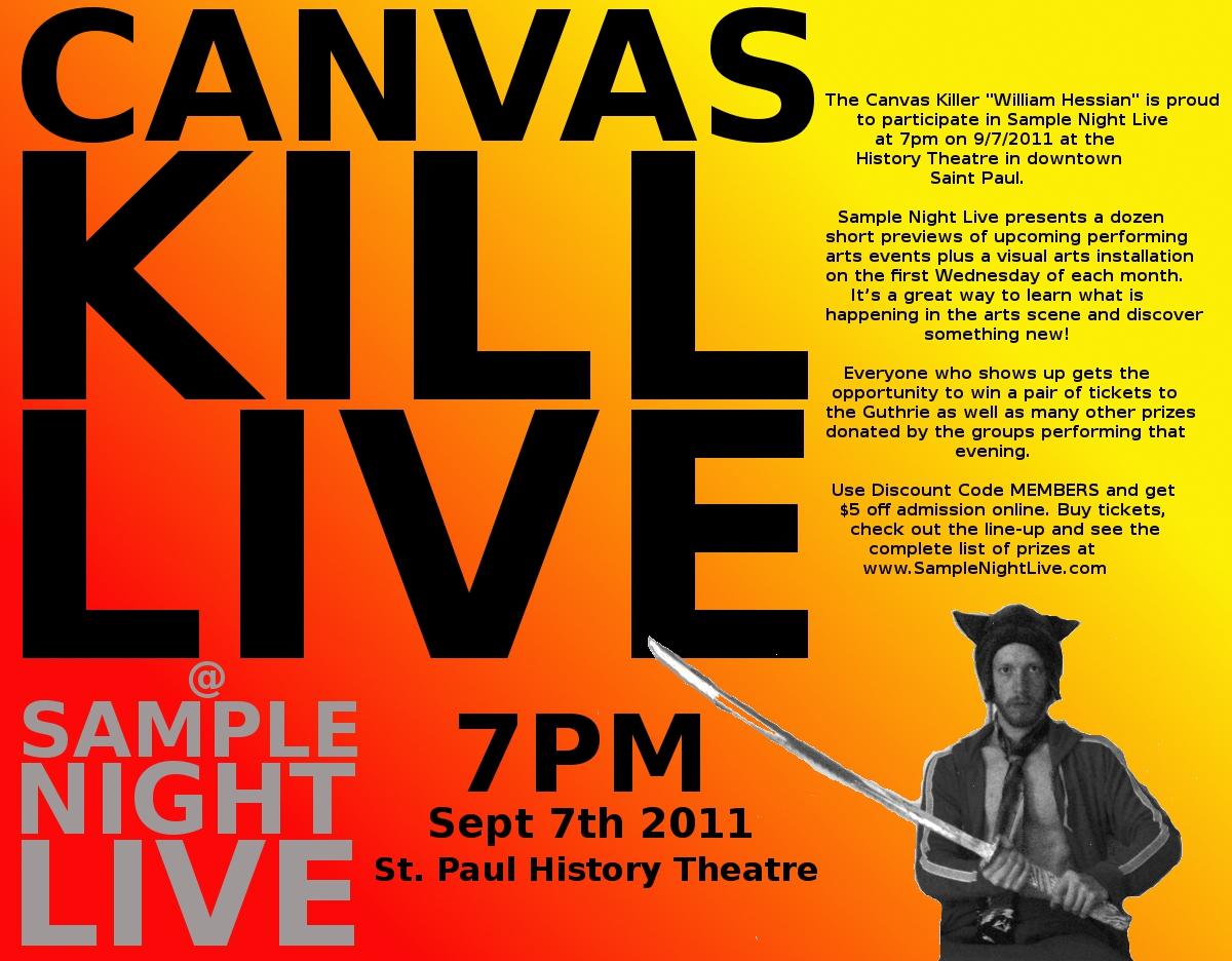 Bearded Bunny Blog: Canvas Kill Live performance at Sample Night Live