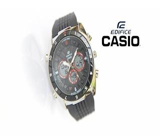 jam tangan keren EF-8012 SILVER BLACK