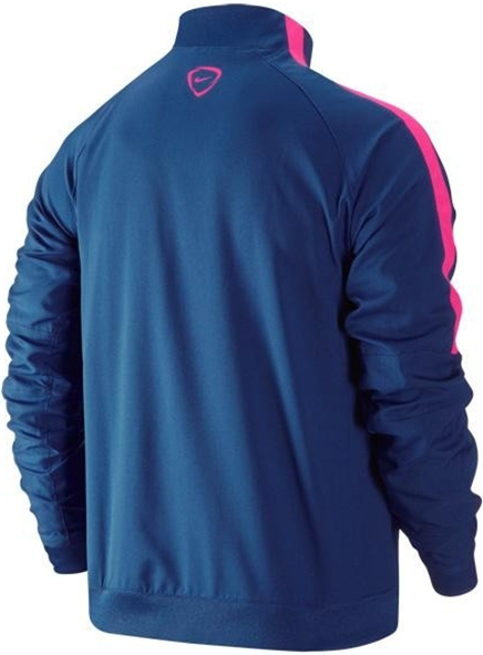 Barcelona 2014-2015 Nike Woven Tracksuit Blue Pink