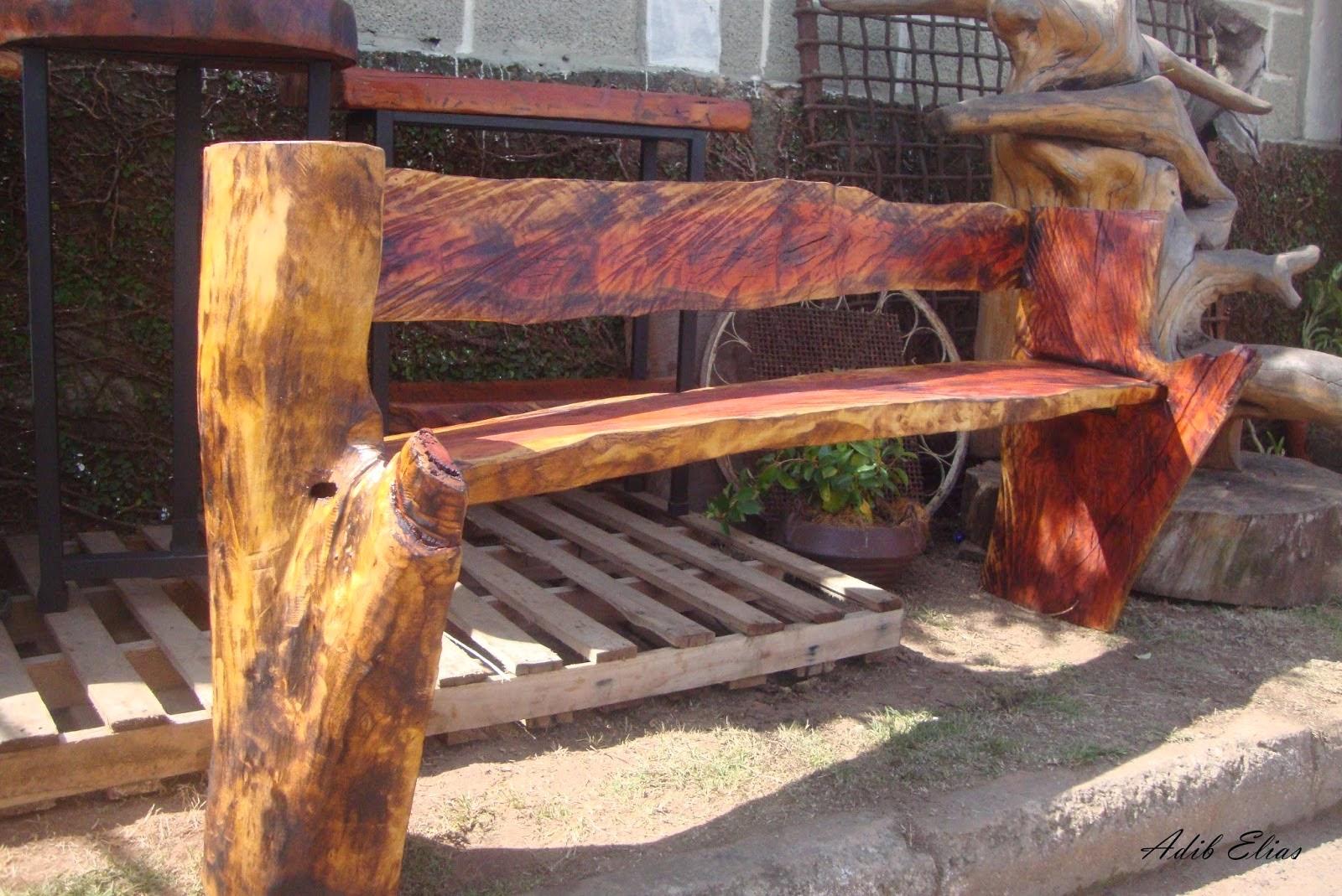 Banco rústico de madeira reciclada de Jacarandá #B0721B 1600x1069