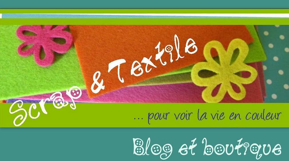 scrap et textile : ancienne boutique et blog
