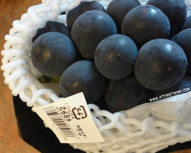 Japanese grapes bought from Daimaru department store