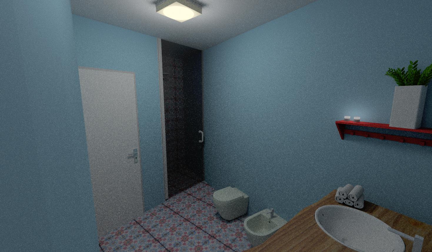 Retr and design restyling di un bilocale anni 39 70 - Smalto per pareti bagno ...