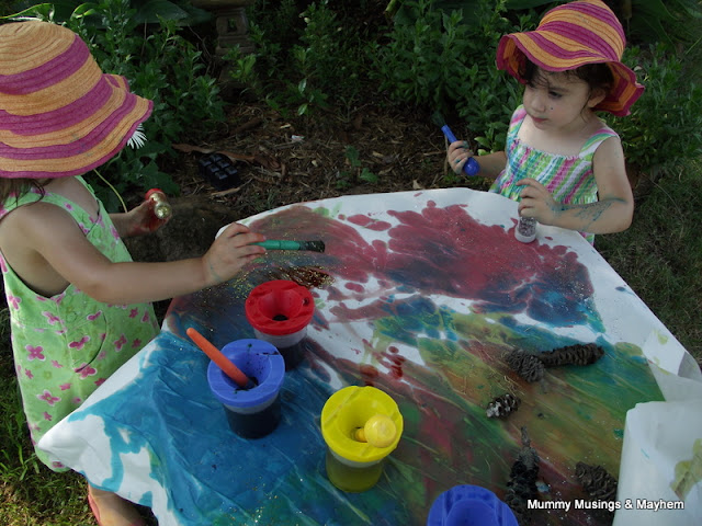 Toddler easy painting fun