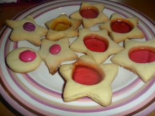 Rainbow star biscuits