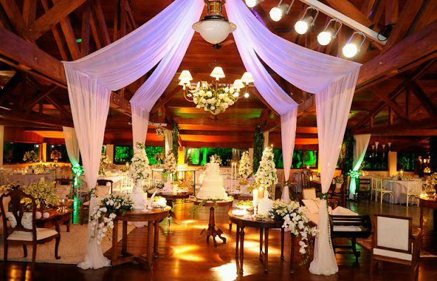 decoracion de bodas con telas parte