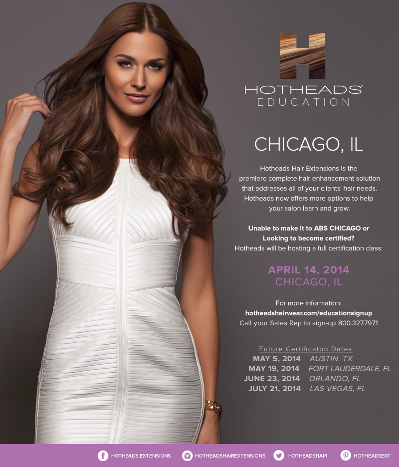Hotheads Hair Extensions Hotheads Certification Class April 14