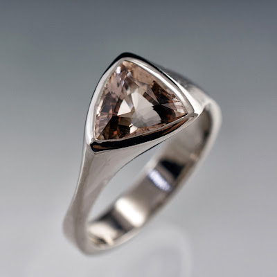 Trillion Morganite Ring