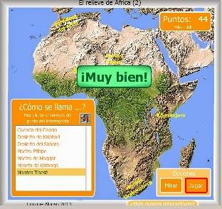 RELIEVE DE ÁFRICA