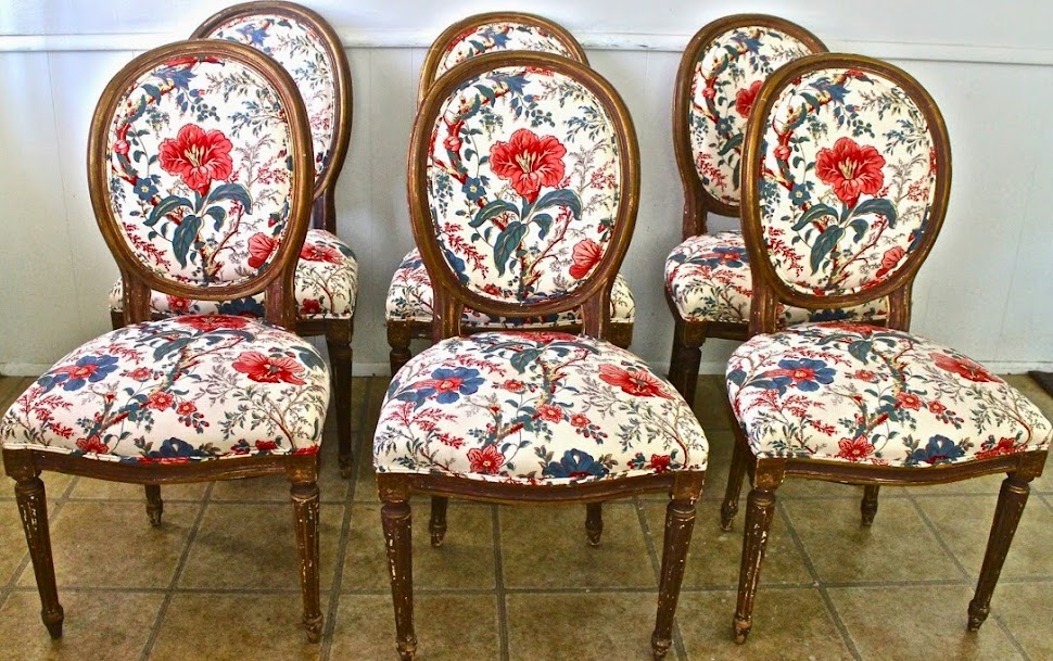 MJH Design Art, Featuring An Amazing Set of Louis XVI Style Dining Chairs!