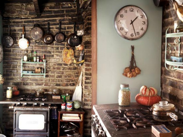 Beautiful Rustic Kitchen With Exposed Brickwork Rustic Homely Kitchen