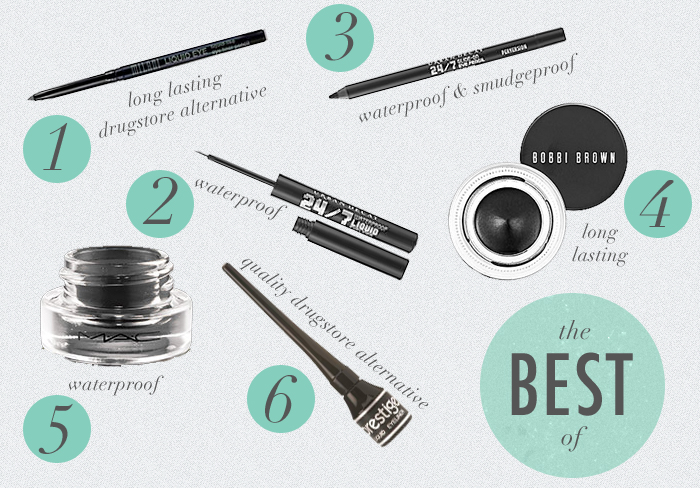the best black eyeliners, gel eyeliner, liquid eyeliner, pencil eyeliner, Milani Liquid Eye Eyeliner, Urban Decay 24/7 Glide On Eye Pencil, MAC Fluidline in Blacktrack, Prestige Liquid Eyeliner, Bobbi Brown Long Lasting Gel Eyeliner