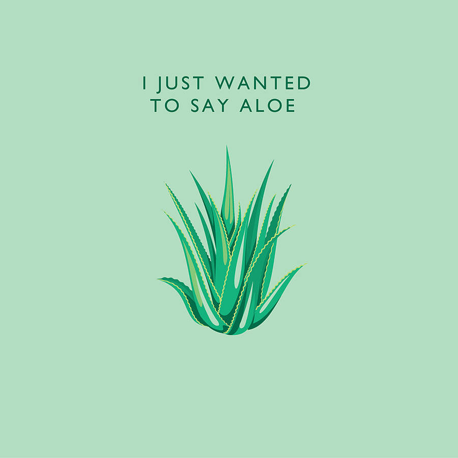 just wanted to say aloe