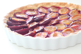 moule tarte prunes bretzel et cafe crème