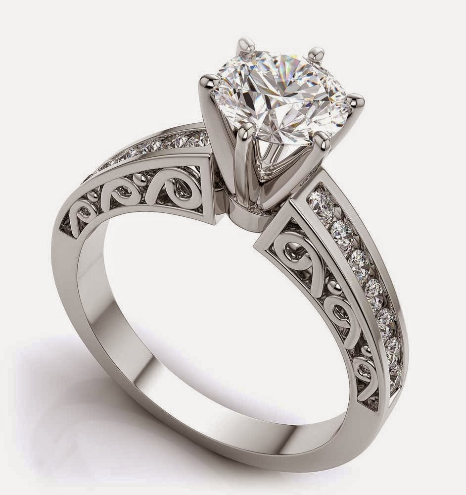 Diamond Wedding Rings Hand Engraved Settings Wholesale Images