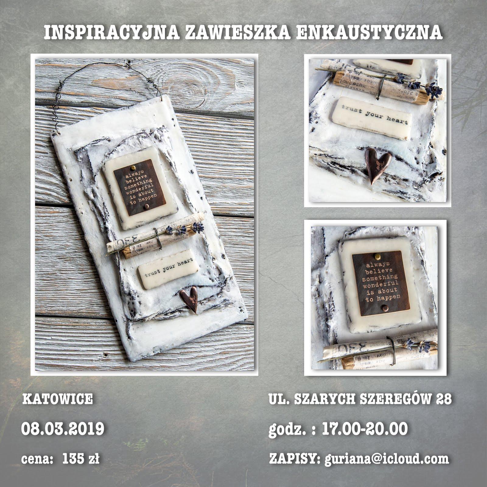Katowice -Zawieszka enkaustyczna