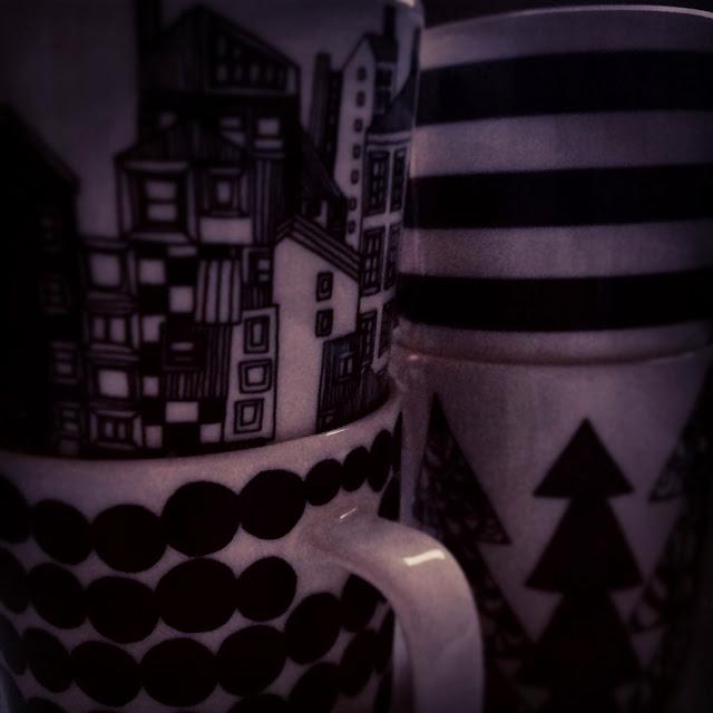 Marimekko, Black&White, kahvikupit, kaffekoppar, coffeemugs