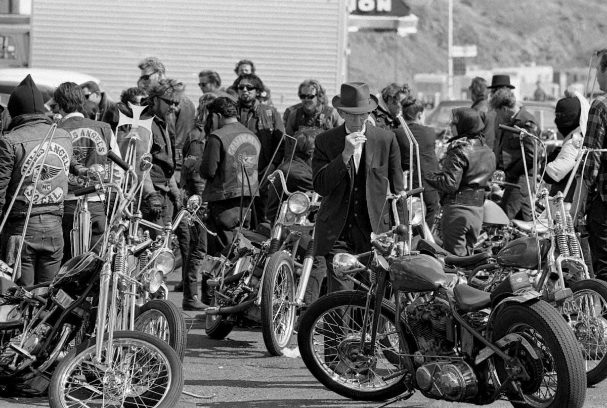 Photojournalist Bill Ray traveled with the Hells Angels for a few days
