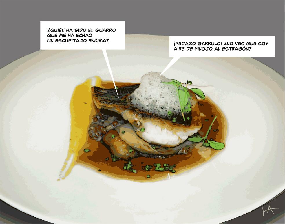 cocina de vanguardia pescado del dia