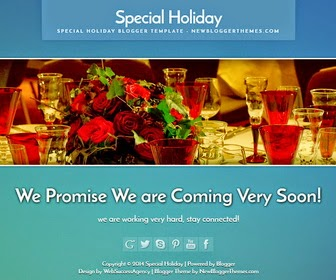 Special Holiday Blogger Template