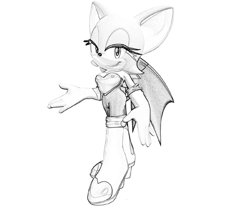 printable sonic generations rouge the bat smile_coloring pages