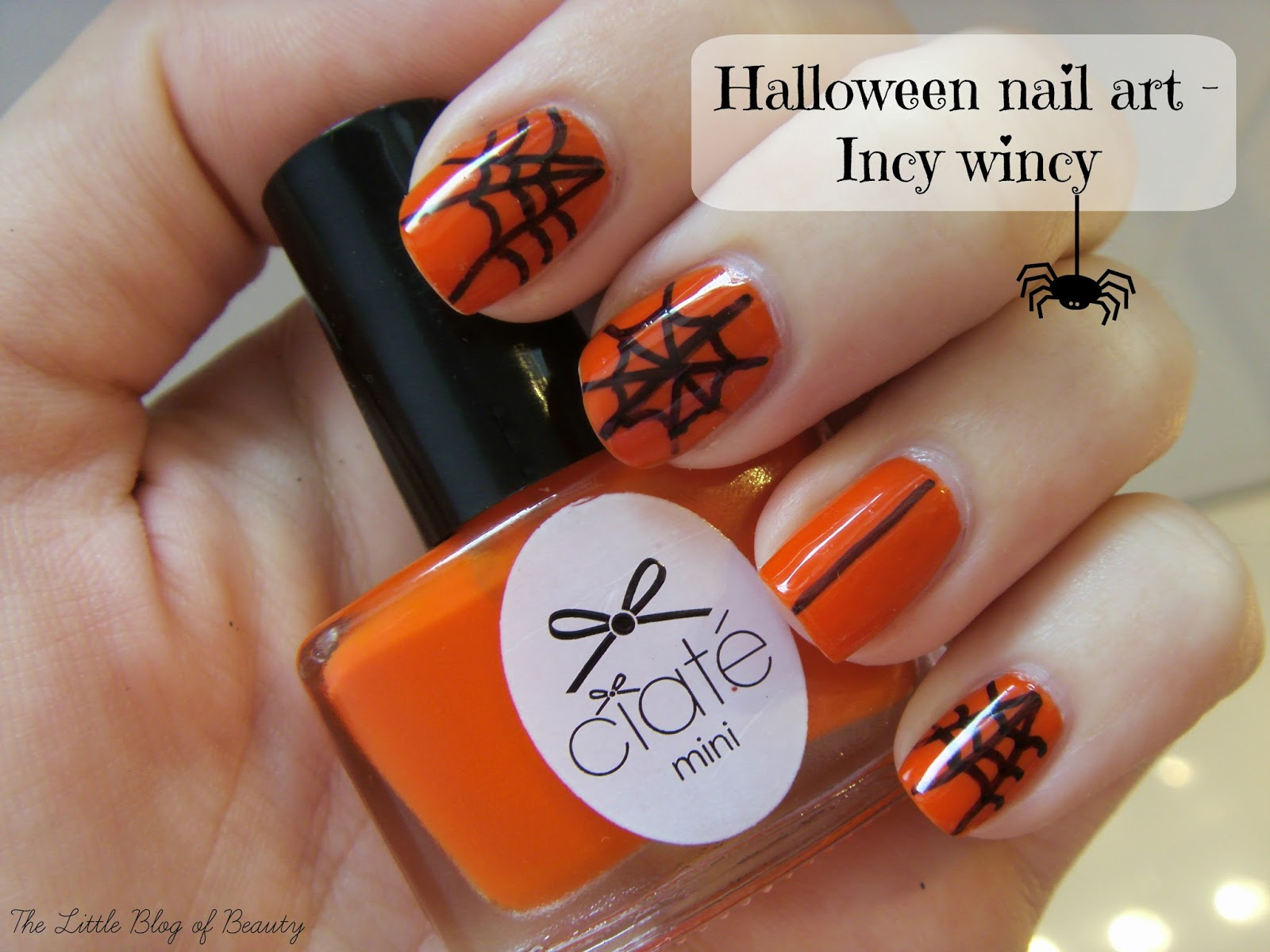 Halloween nail art - Incy wincy