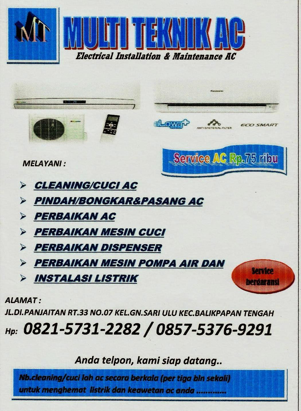 Contoh Brosur Jasa Service Ac Natal 6