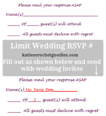 Free Wedding Templates: RSVP & Reception Cards - Katie's Crochet ...