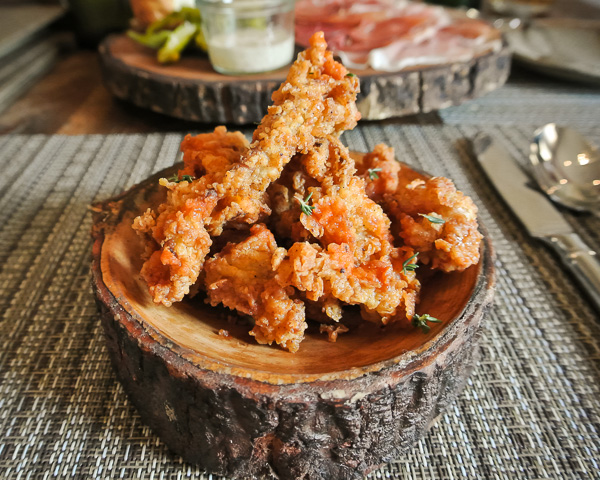 Fried Chicken Skins at Husk restaurant in Nashville Tennessee