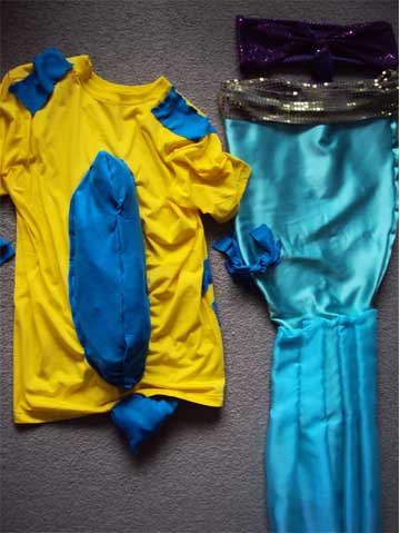 How to make Ariel and Flounder Costume