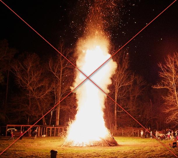 how to make a big bonfire