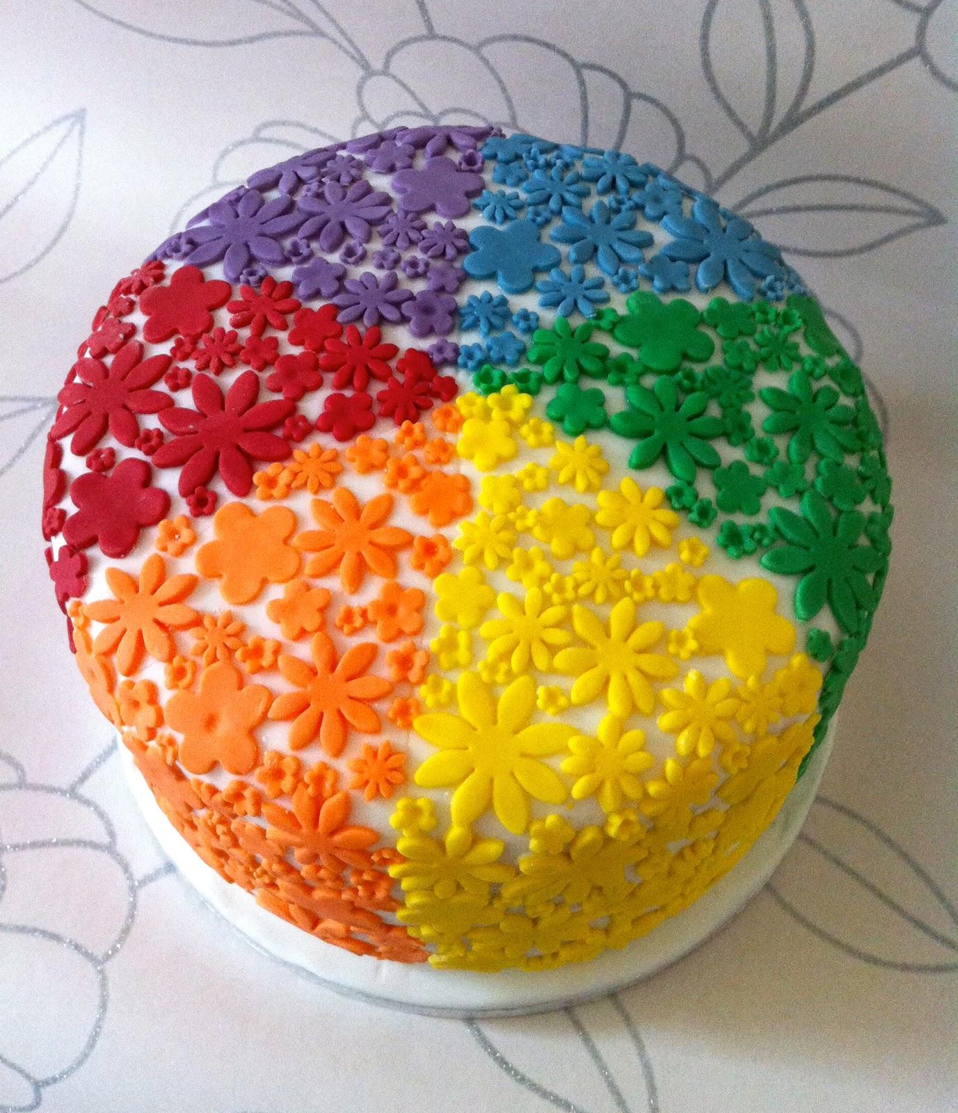 The Fondant Fairy Rainbow Cake
