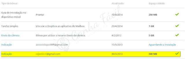 referidos dropbox confirmados grátis gb ganha ganhar bónus free