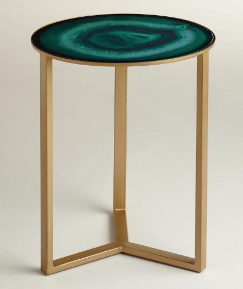 Epic Emerald Harbin Accent Table from World Market