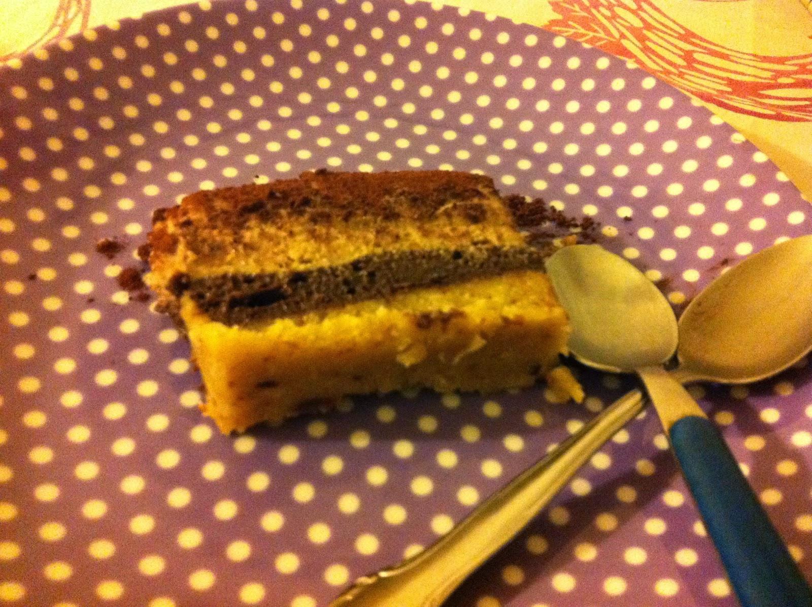 torta morbida a tre strati