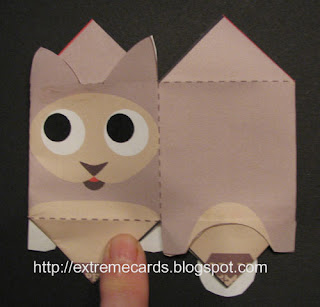 fold flat cube cat