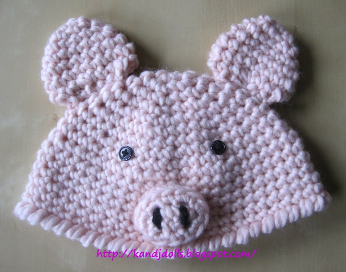 Piggy Hat - Sayjai Amigurumi Crochet Patterns ~ K and J ...